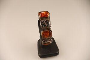 Art Deco Fischland Bernstein Armband, mit  835 Silber   Erhaltung     sehr gut