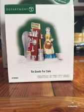 Dept 56 Christmas In The City Accessory Tin Goods For Sale Nib