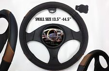 Car Steering Wheel Cover Black Leather Small