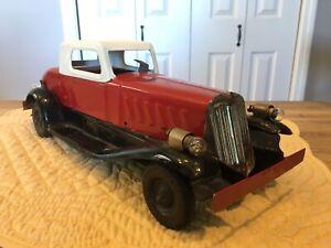 Vintage 1932 Girard Wind Up Siren Car Wind Up & Siren Good Working Pressed Steel