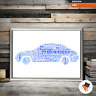 Personalised Dad Gifts Uncle Grandad Son Him Birthday Car Present Christmas