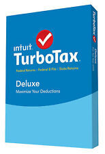 TurboTax Deluxe 2015 Federal + Fed Efile + State Tax Preparation Software OPEN