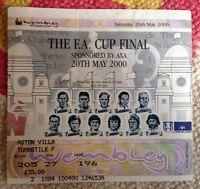 2000 FA Cup Final Ticket:- Aston Villa v Chelsea. Last EVER at Wembley. **VGC**