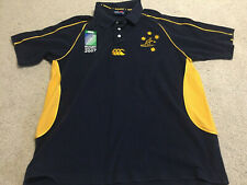 Wallabies Rugby World Cup 2007 Vintage Polo XL Extra Large Australia Canterbury