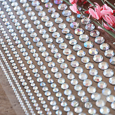 Linea Crystal Mixed Self Adhesive Pearl Sticker rows - Flat-back, Pearl, Gems