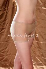 Beige Seamless Mens Sheer Unisex Thin Pantyhose Women Underwear Boxer FREE