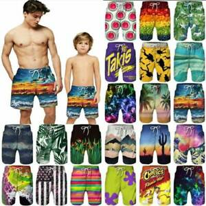 Mens kids Boy Swim shorts Swimming board shorts Trunks Swimwear Beachwear