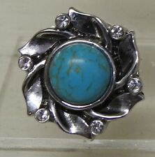 Celtic pattern 7 with Turquoise centre stone Noosa Style Snap Button