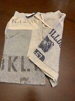 🔥 NWT Polo Ralph Lauren Mens Fleece Varsity Graphic Bulldog Sweatpants Shorts