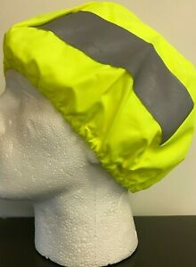 Hi Viz Yellow Helmet Waterproof Cover Guard Reflective New One Size Luminous