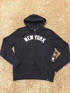Men's New York Yankees Navy Pullover Hoodie Wordmark Sweatshirt by '47 Medium