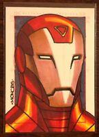 Iron Man Marvel 70th Anniversary color sketch card 1/1 Randy Monces