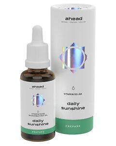 ahead DAILY SUNSHINE   Vitamin D3 + K2 Tropfen hochdosiert - 99,7+% All-Trans
