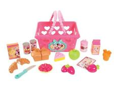 Minnie Mouse Basket Play Set Shopping Kids Toddler Food Pretend Girl Gift New