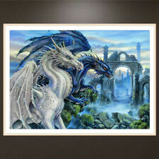 DIY 5D Diamond Embroidery Dragon Painting Cross Stitch Craft Home Office Decor