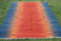 Ikat Large Afghan Kilim Rug Carpet 5'x8' Hand Woven Traditional Wool Kelim 8x10