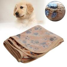 Warm Pet Mat Small Large Paw Print Dog Puppy Fleece Soft Blanket CushioQ