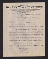 SCHIFFERSTADT (PFALZ), Brief 1925, Waagen-Fabrik  Josef Kurz