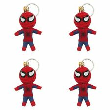 Spiderman, String Doll Voodoo, Lucky Charm Key Ring, Handmade