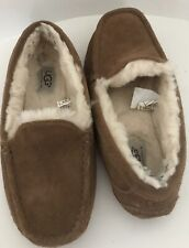 Boys Ugg Ascot Chesnut Slippers House Shoes Size 4 Moccasin