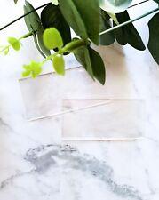 Acrylic Clear Blank Place Cards Name Wedding Escort DIY Table Guest List