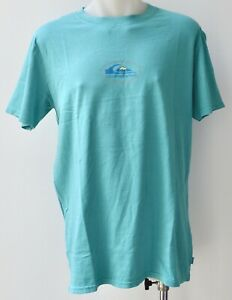 QUIKSILVER Mens Printed T Shirt - AQUA - SIZE - S,M,XL & XXL - NEW