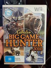 Cabela's Big Game Hunter 2010  -  NINTENDO WII - FREE POST