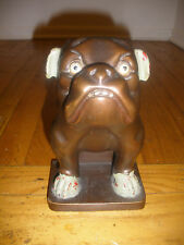 Rare antique Art Deco 1900`s Bulldog brush or matches holder figure