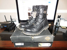 NEW Harley Davidson Mens Leather Boot Boots Shoes Medium Black Wyatt Size 11.5
