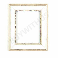 Shabby Chic Picture frame,photo frame ,poster frame distressed White Walnut