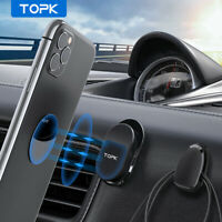TOPK Magnetic Car Dashboard Mount Phone Holder Stand Cable Organizer 3 Pcs Set