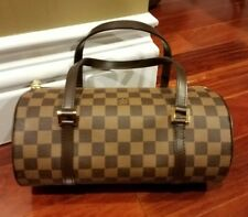 Authentic LOUIS VUITTON Papillon Damier Ebene 26 Shoulder Bag / Handbag
