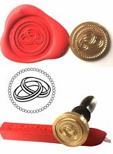 Wax Stamp, JOINED WEDDING RINGS Coin Seal and Red Wax Stick XWSC076-KIT