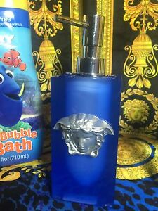 MEDUSA SOAP DISPENSER PUMP BATH BLUE SILVER NEW CHRISTMAS HOME GIFT IDEA SALE