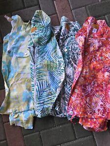 FOUR Light Jackets Ruby Rd. Size 10 Green Blue Orange Ziper Long Sleeve