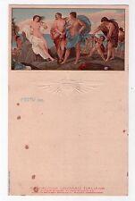 Menù Navigazione Generale Italiana. Florio - Rubattino 1909. (Bacco e Arianna)