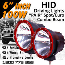 Xenon Off Road 100w 6 Spoteuro Combo Pair 12v 24v 4x4 Hid Driving Lights