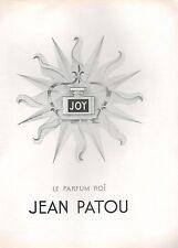 ▬► PUBLICITE ADVERTISING AD PARFUM PERFUME Parfum Roi JOY Jean PATOU