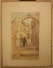 Vintage Elizabeth LESLEY JACKSON A Narrow Street ARTS & CRAFTS Aquatint ETCHING