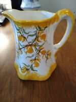 """Clinchfield Artware Hand Painted Gold Yellow Floral Pitcher Erwin TN 5 1/2"""""""