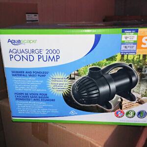 NEW Aquascape AquaSurge 2000 Pump -  Submersible Waterfall and Filter Pump