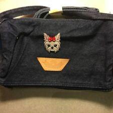 PURSE BLUE JEAN YORKIE DOG DENIM JEAN PURSES HANDBAGS PURSE  on purse NEW PURSE