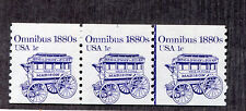United States - Coil Strip of 3 Sc# 1897 / Plate # On Top + Line Pair - S8209