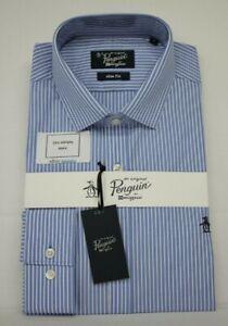 Men's ORIGINAL PENGUIN Narrow Striped Blue & White Shirt (M)...Ref: 7649