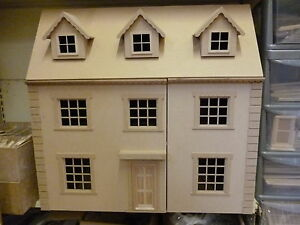 """Dolls House 1/12 scale The Grange 6 room House Kit 30"""" wide 15"""" deep by DHD"""