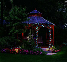 Blue solar powered 100 Led outdoor garden wireless String party Fairy light Lamp