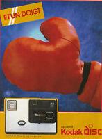 Publicité ancienne Kodak photo 1982 issue de magazine