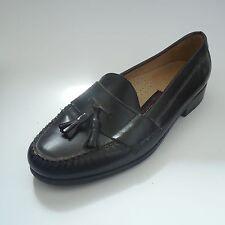 Kirkland Mens Black Leather Loafers Dress Shoes Tassel Size 13 D Formal Moc Toe