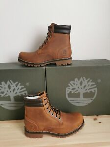 Timberland Classic Foraker 6 Inch Brown Leather Boots Uk 8 Eu 42 RRP £155