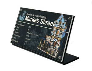 LEGO 10190 Market Street - CUSTOM ACRYLIC DISPLAY STAND